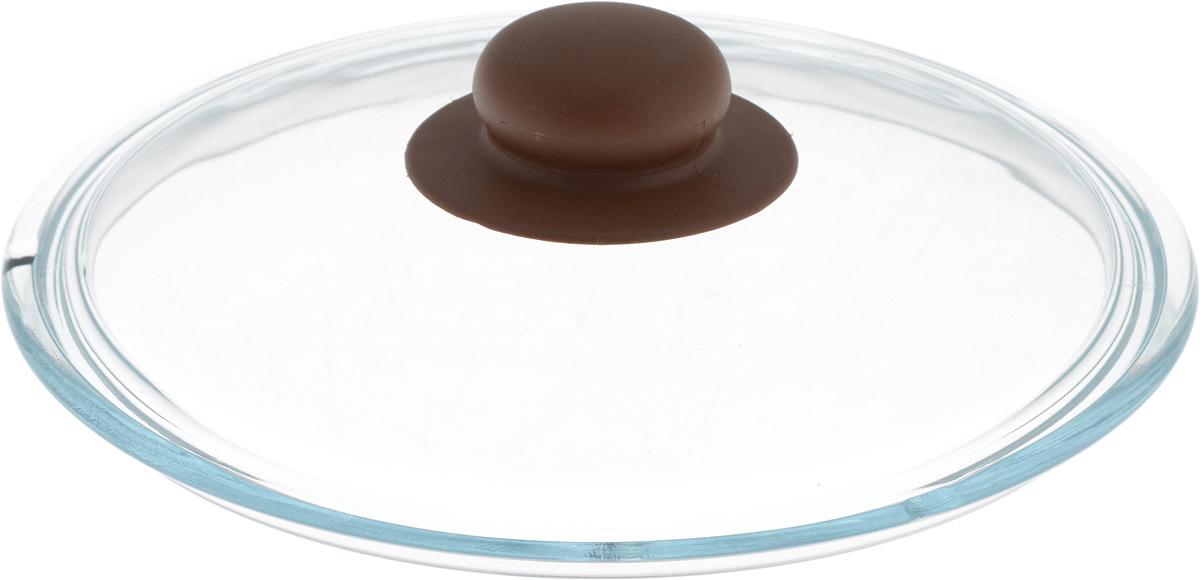 Крышка NaturePan, цвет: коричневый, прозрачный. Диаметр 20 смЛ4878Крышка NaturePan изготовлена из термостойкого и экологически чистого стекла с пластиковой ручкой. Изделие удобно в использовании и позволяет контролировать процесс приготовления пищи. Можно мыть в посудомоечной машине. Диаметр крышки: 20 см. Диаметр ручки: 4,5 см. Высота ручки: 2,5 см.