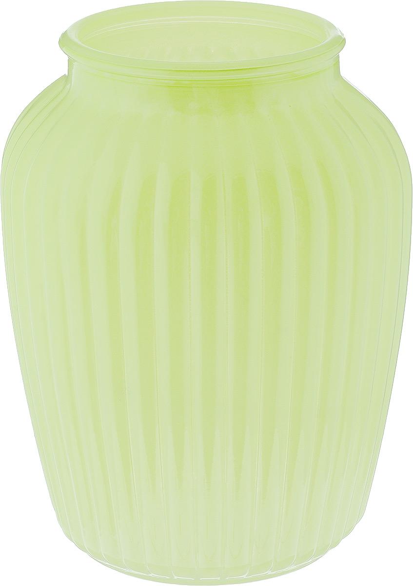 Ваза NiNaGlass Луана, цвет: салатовый, высота 19,5 смNG92-021M_салатовый/вид2Ваза Nina Glass Луана выполнена из высококачественного стекла и имеет изысканный внешний вид. Такая ваза станет ярким украшением интерьера и прекрасным подарком к любому случаю. Не рекомендуется мыть в посудомоечной машине. Высота вазы: 19,5 см. Диаметр вазы (по верхнему краю): 10,5 см.