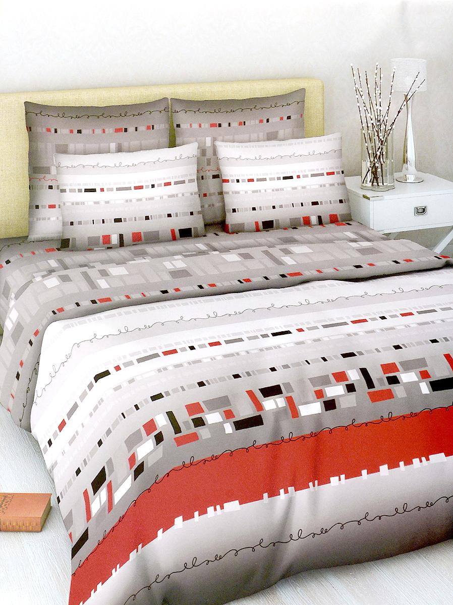 Комплект белья МарТекс Василиса, 2-спальный, наволочки 70х70, цвет: красный, серый, белый01-1017-2Комплект постельного белья МарТекс Василиса состоит из пододеяльника, простыни и двух наволочек. Постельное белье оформлено оригинальным ярким рисунком и имеет изысканный внешний вид. Комплект изготовлен из качественной хлопчатобумажной бязи. Поверхность материи - ровная и матовая на вид, одинаковая с обеих сторон. Ткань экологична, гипоаллергенная и износостойкая. Это отличный материал для постельного белья. Приобретая комплект постельного белья МарТекс, вы можете быть уверенны в том, что покупка доставит вам и вашим близким удовольствие и подарит максимальный комфорт.