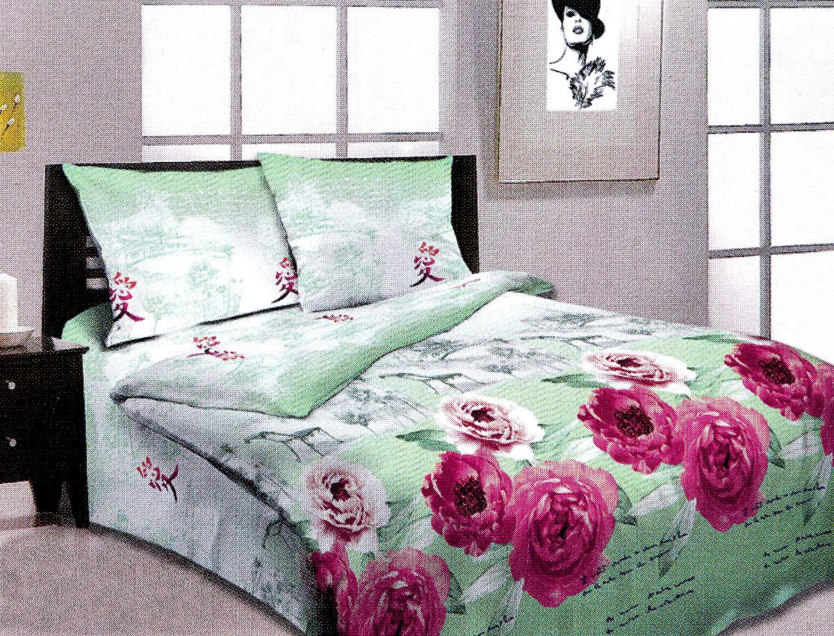 Комплект белья МарТекс, 1,5-спальный, наволочки 50х70. 01-0972-101-0972-1