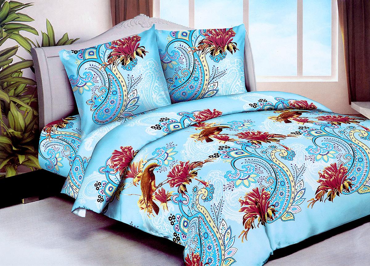 Комплект белья МарТекс Коллибри, 2-спальный, наволочки 70х70. 01-1249-201-1249-2
