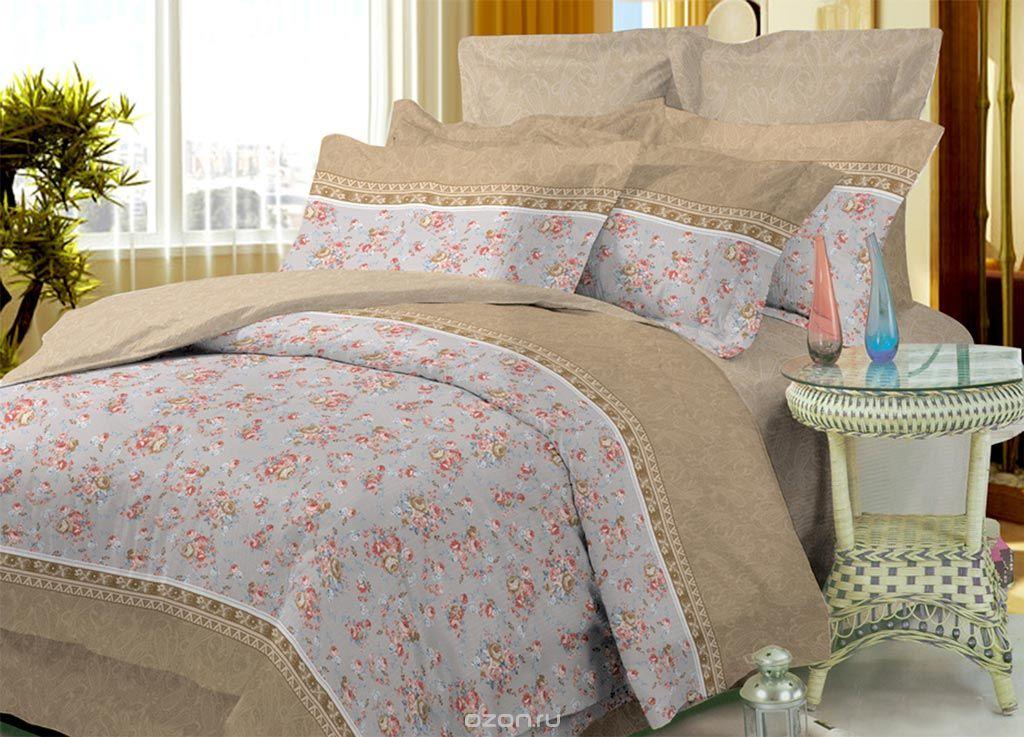 Комплект белья Primavera Classic Цветы, 1,5-спальный, наволочки 70x70, цвет: бежевый, серый, розовый87879Комплект постельного белья Primavera Classic Цветы является экологически безопасным для всей семьи, так как выполнен из высококачественного сатина (100% хлопка). Комплект состоит из пододеяльника на молнии, простыни и двух наволочек. Постельное белье оформлено ярким рисунком цветов и имеет изысканный внешний вид. Сатин - производится из высших сортов хлопка, а своим блеском и легкостью напоминает шелк. Постельное белье из сатина превращает жаркие летние ночи в прохладные и освежающие, а холодные зимние - в теплые и согревающие. Приобретая комплект постельного белья Primavera Classic Цветы, вы можете быть уверенны в том, что покупка доставит вам и вашим близким удовольствие и подарит максимальный комфорт.