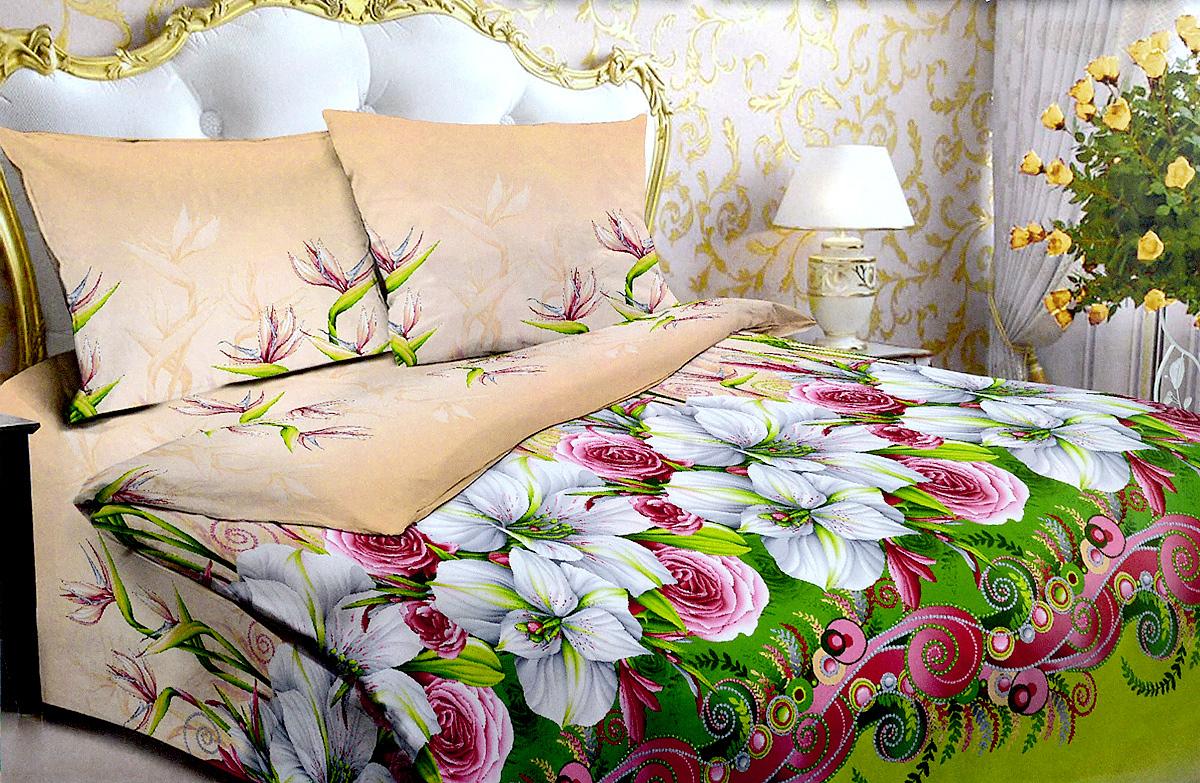 Комплект белья МарТекс Жемчужина, 1,5-спальный, наволочки 70х70, цвет: бежевый, салатовый, зеленый01-0991-1Комплект постельного белья МарТекс Жемчужина состоит из пододеяльника, простыни и двух наволочек. Постельное белье оформлено оригинальным ярким рисунком и имеет изысканный внешний вид. Комплект изготовлен из качественной хлопчатобумажной бязи. Поверхность материи - ровная и матовая на вид, одинаковая с обеих сторон. Ткань экологична, гипоаллергенная, износостойкая. Это отличный материал для постельного белья. Приобретая комплект постельного белья МарТекс, вы можете быть уверенны в том, что покупка доставит вам и вашим близким удовольствие и подарит максимальный комфорт.