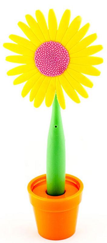 Эврика Ручка шариковая Цветок Астра на подставке цвет желтый96177В скучной офисной обстановке иногда так не хватает чего-то солнечного, живого, веселого. Гибкая удобная ручка-цветок с подставкой в форме кашпо внесет недостающие нотки непринужденности и весеннего настроения в канцелярские будни.