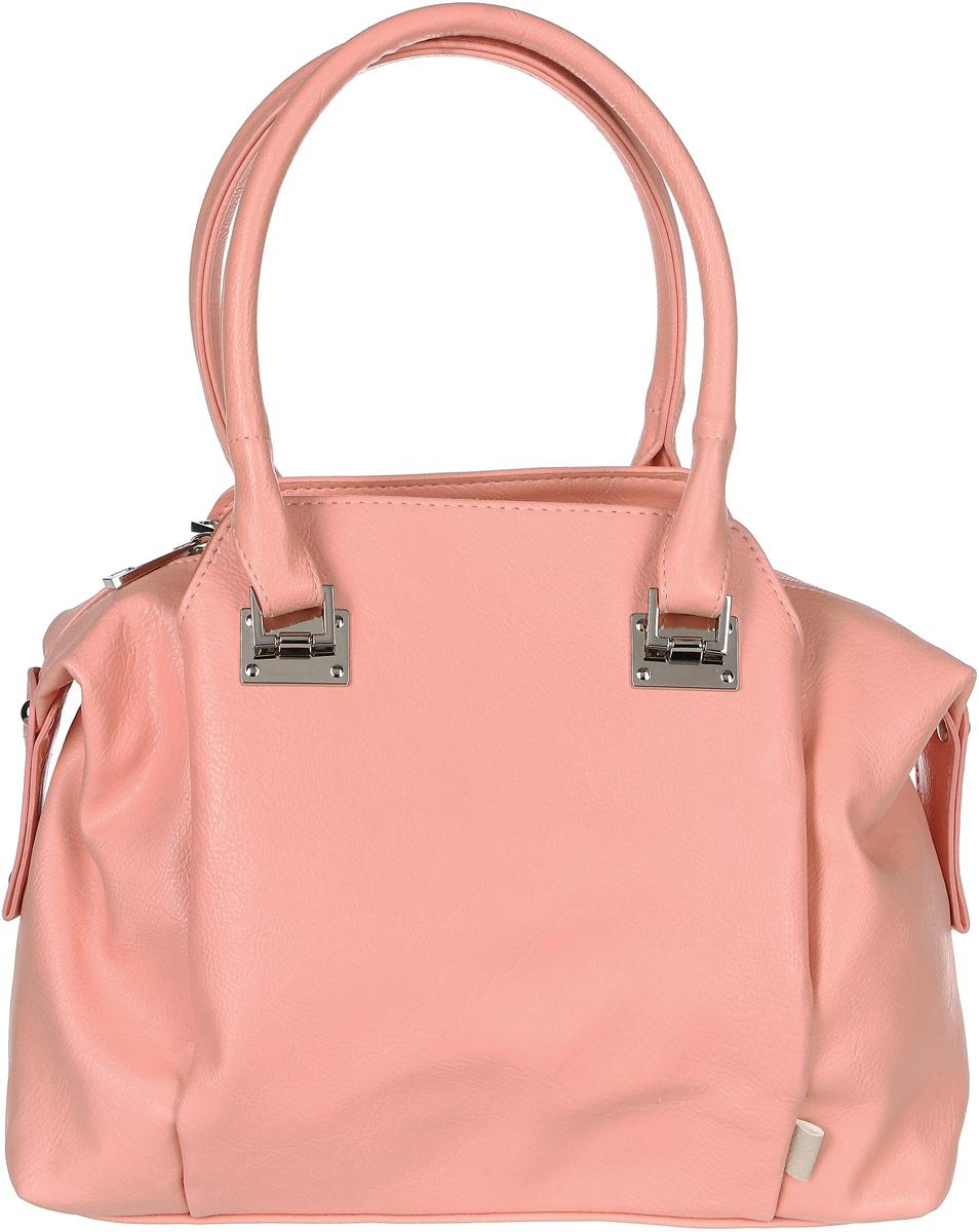 Сумка женская Медведково, цвет: розовый. 17с3334-к1417с3334-к14Красивая женская сумка Медведково исполнена из экокожи высокого качества. Имеет одно вместительное отделение на молнии и два глубоких кармана на магнитных кнопках по бокам от него. Так же в отделении присутствуют два накладных кармашка под сотовый телефон или для мелочей и один прорезной карман на застежке-молнии. Снаружи, на задней стенке сумки, так же присутствует прорезной карман на молнии для быстрого доступа к часто используемым вещам. Сумка обладает двумя удобными для переноски ручками.