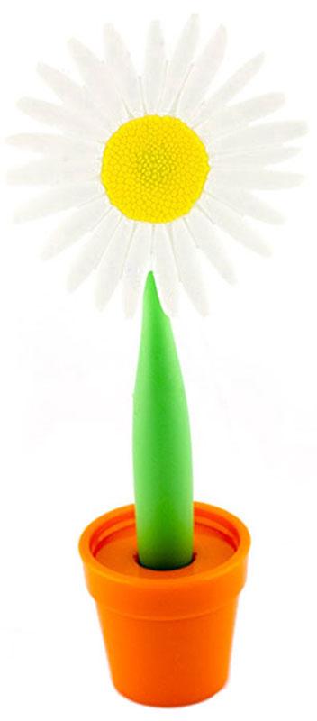 Эврика Ручка шариковая Цветок Астра на подставке цвет белый96178В скучной офисной обстановке иногда так не хватает чего-то солнечного, живого, веселого. Гибкая удобная ручка-цветок с подставкой в форме кашпо внесет недостающие нотки непринужденности и весеннего настроения в канцелярские будни.