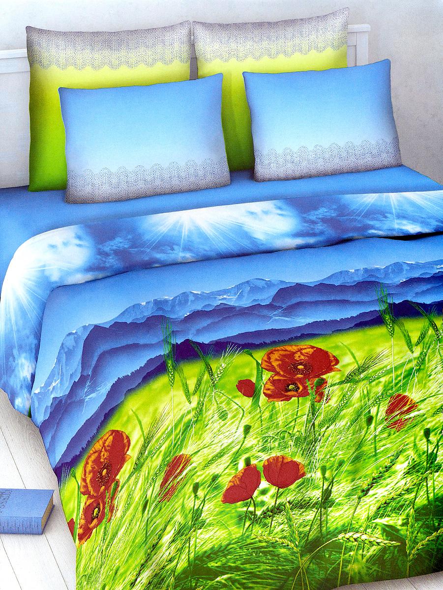 Комплект белья МарТекс Василиса, 2-спальный, наволочки 70х70. 01-1012-201-1012-2