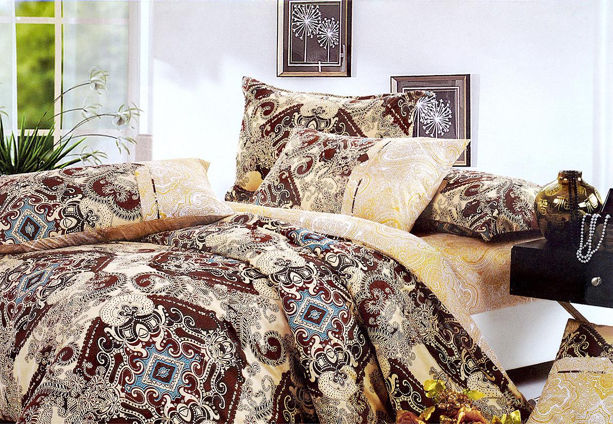 Комплект белья МарТекс Калипсо, 1,5-спальный, наволочки 50х70. 01-0354-101-0354-1