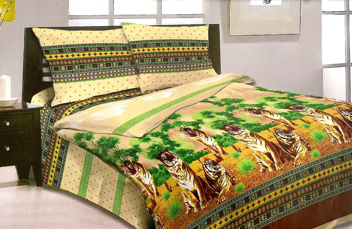 Комплект белья МарТекс Национальный парк, 1,5-спальный, наволочки 50х70. 01-0957-101-0957-1