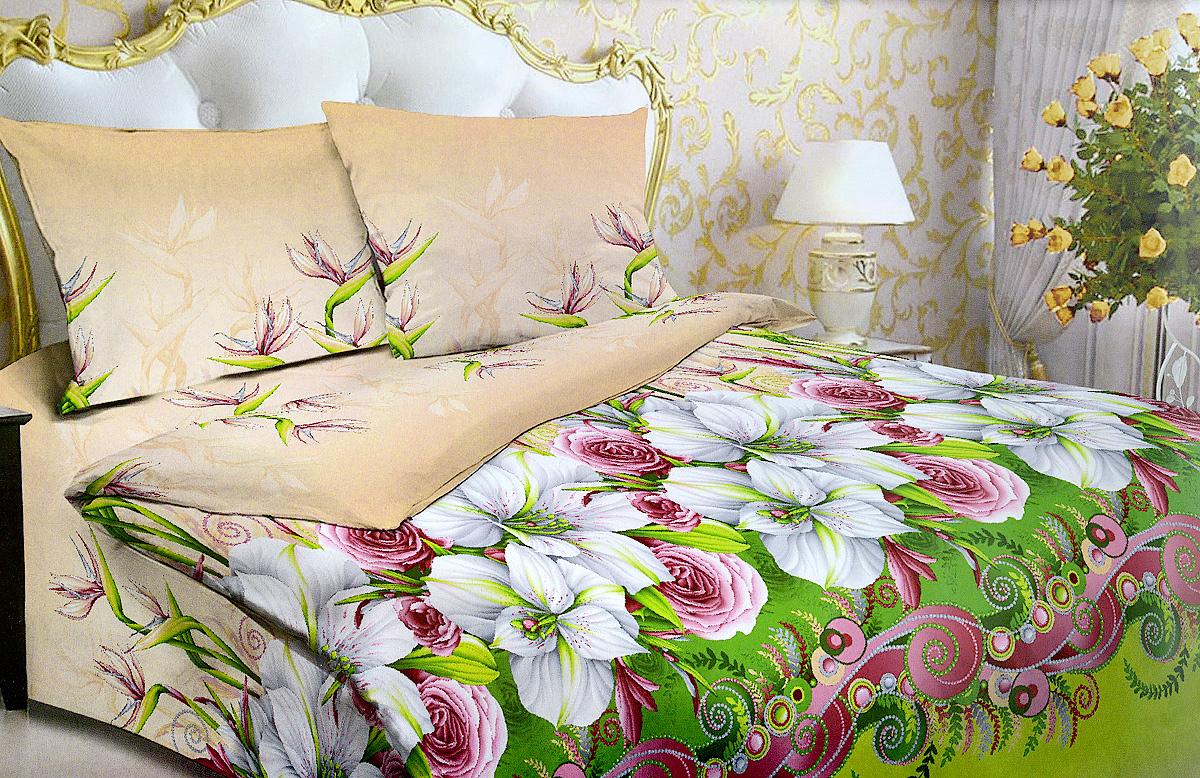 Комплект белья МарТекс Жемчужина, 2-спальный, наволочки 70х70. 01-0990-201-0990-2