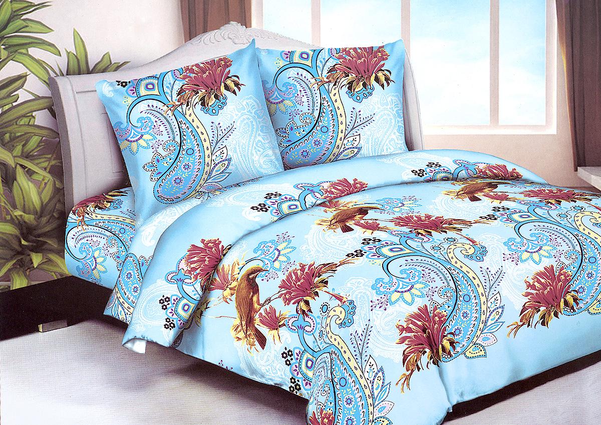 Комплект белья МарТекс Коллибри , 1,5-спальный, наволочки 70х70. 01-1250-101-1250-1