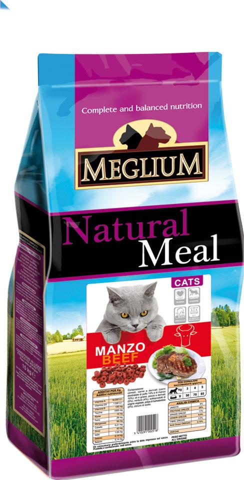 Корм сухой Meglium Adult для привередливых кошек, говядина, 3 кг63997Meglium Cat Adult с говядиной - это полноценный, сбалансированный и очень вкусный корм для кошек. Говядина, красное мясо - это источник белка высокой биологической ценности с соответствующим набором аминокислот, рыба является источником полноценных белков и содержит большое количество Омега-3 жирных кислот- все это дополняет сбалансированная доза минералов, витаминов и таурина, благодаря чему Meglium Cat Adult с говядиной становится кормом, который удовлетворяет все пищевые потребности вашей кошки. Полноценный корм для взрослых кошек Состав: дегидрированное мясо (35%, из которого говядины 14%), кукуруза, пшеница, куриный жир, рыбная мука (5%), сушеная мякоть свеклы (2%), минеральные вещества. Пищевые добавки на кг: 3a672a Витамин A 18000 UI, Витамин D3 1200 UI, 3a700 Витамин E 145 мг, E4 пентагидрат сульфата меди 55 мг, E1 карбонат железа 58 мг, E5 оксид марганца 73 мг, E6 моногидрат сульфата цинка 173 мг, E2 йодистый калий 1,4 мг, E8 селенит натрия 0,31 мг, таурин...