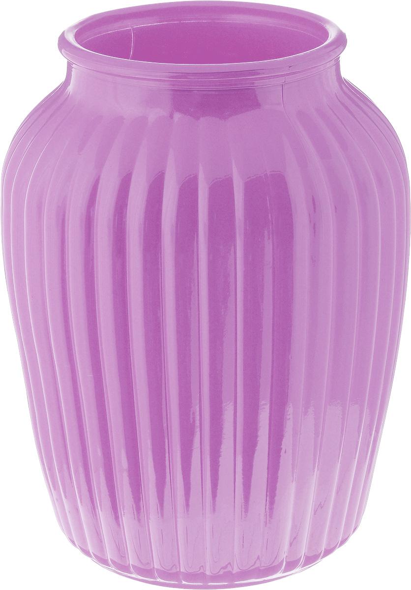 Ваза NiNaGlass Луана, цвет: сиреневый, высота 19,5 смNG92-021M_сиреневый/вид2Ваза Nina Glass Луана выполнена из высококачественного стекла. Такая ваза станет ярким украшением интерьера и прекрасным подарком к любому случаю. Не рекомендуется мыть в посудомоечной машине. Высота вазы: 19,5 см. Диаметр вазы (по верхнему краю): 10 см.