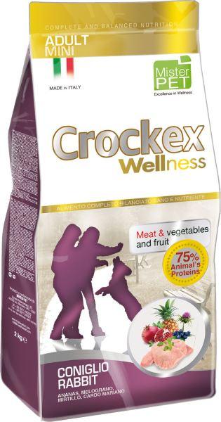Корм сухой Crockex Wellness для собак мелких пород, кролик с рисом, 2 кг65194Этот полноценный рацион, дополненный функциональными ингредиентами, поддержит здоровье собаки. Сердцевина ананаса способствует правильному функционированию пищеварительной системы, Гранат и Малина являются превосходными источниками витамина С и богаты полифенолами, антиоксидантами и натуральными укрепляющими веществами с антивозрастным эффектом, которые служат для борьбы со свободными радикалами. Расторопша - лекарственное растение, содержащее силимарин и силибинин, вещества, известные своими противовоспалительными свойствами и эффективно защищающие печень. Пребиотики FOS и MOS помогают модулировать кишечную флору, улучшая таким образом усвоение питательных веществ. Использование риса в качестве первого источника углеводов и свежего мяса кролика (15%) обеспечивает высокую перевариваемость и отличную аппетитность рациона. Состав: обезвоженное мясо цыпленка (19%), рис (18%), кукуруза, свежее мясо кролика (15%), кукурузная мука, обезвоженное мясо кролика (12 %), цыплячий жир,...