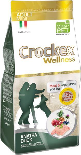 Корм сухой Crockex Wellness для собак мелких пород, утка с рисом, 2 кг65195Этот полноценный рацион, дополненный функциональными ингредиентами, поддержит здоровье собаки. Сердцевина ананаса способствует правильному функционированию пищеварительной системы, Гранат и Малина являются превосходными источниками витамина С и богаты полифенолами, антиоксидантами и натуральными укрепляющими веществами с антивозрастным эффектом, которые служат для борьбы со свободными радикалами. Расторопша - лекарственное растение, содержащее силимарин и силибинин, вещества, известные своими противовоспалительными свойствами и эффективно защищающие печень. Пребиотики FOS и MOS помогают модулировать кишечную флору, улучшая таким образом усвоение питательных веществ. Использование риса в качестве первого источника углеводов и свежего мяса утки (15%) обеспечивает высокую перевариваемость и отличную аппетитность рациона. Состав: обезвоженное мясо цыпленка (19%), рис (19%), кукуруза, свежее мясо утки (15%), обезвоженное мясо утки (12 %), кукурузная мука, цыплячий жир, льняное семя...