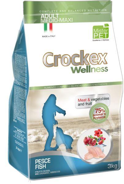 Корм сухой Crockex Wellness для собак средних и крупных пород, рыба с рисом, 3 кг65205Этот полноценный рацион, дополненный функциональными ингредиентами, поддержит здоровье собаки. цветки гибискуса способствуют правильному функционированию пищеварительной системы, а гранат, шиповник и красные фрукты являются антиоксидантами и богаты натуральными укрепляющими веществами с антивозрастным эффектом, которые служат для борьбы со свободными радикалами. Расторопша - лекарственное растение, содержащее силимарин и силибинин, вещества, известные своими противовоспалительными свойствами и эффективно защищающие печень. Пребиотики FOS и MOS помогают модулировать кишечную флору, улучшая таким образом усвоение питательных веществ. Использование риса в качестве первого источника углеводов и свежей рыбы (15%) обеспечивает высокую перевариваемость и отличную аппетитность рациона. Состав: рыбная мука (25%), рис (22%), кукуруза, свежая рыба (15%), кукурузная мука, животный жир, очищенный от оболочки зеленый горошек, льняное семя, высушенная мякоть свеклы, пивные дрожжи, обезвоженные...