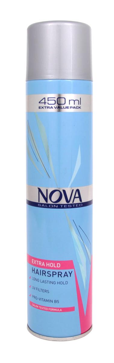 Лак сильной фиксации Nova 450 мл (красный)5021156120195Современные компоненты,входящие в состав лака с провитомином B5,обеспечивают хорошую фиксацию и блеск без видимых следов утяжеления и склеивания волос.Лак фиксирует самые сложные формы и одновременно способствует восстановлению и укреплению поврежденной структуры волос.Питательные добавки придают волосам роскошный,шелковый блеск.