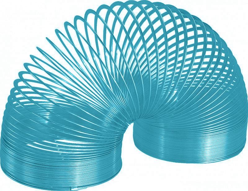 """Игрушка-пружинка """"Slinky"""", металлическая, цвет: бирюзовый СЛ8-111/blue"""