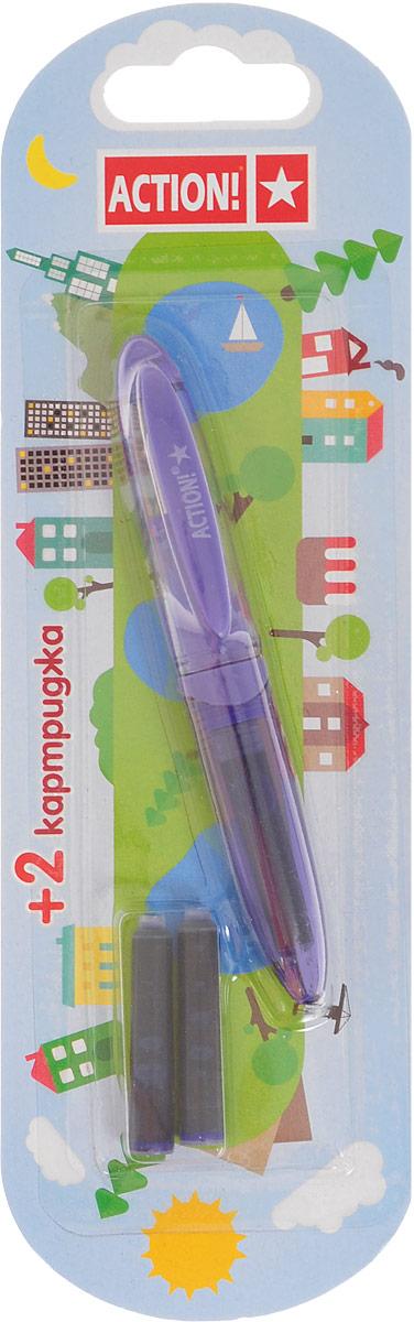 Action! Ручка перьевая цвет фиолетовый AFP1037 синие чернилаAFP1037_фиолетовыйAction! Ручка перьевая цвет фиолетовый AFP1037 синие чернила