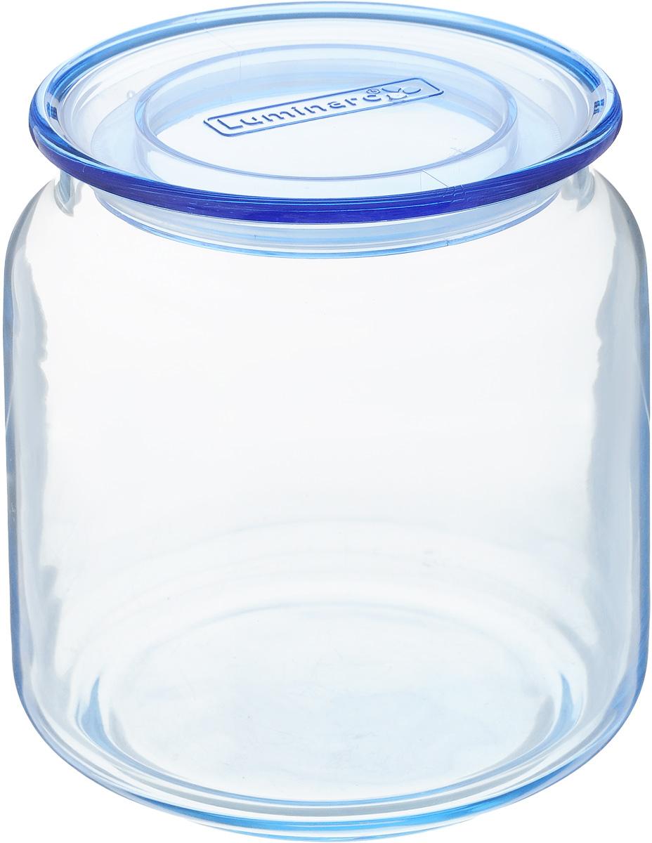 Банка для сыпучих продуктов Luminarc Rondo, с крышкой, цвет: голубой, 500 млJ7527Банка Luminarc Rondo, выполненная из высококачественного стекла, станет незаменимым помощником на кухне. В ней будет удобно хранить разнообразные сыпучие продукты, такие как кофе, сахар, соль или специи. Прозрачная банка позволит следить, что и в каком количестве находится внутри. Банка надежно закрывается пластиковой крышкой, которая снабжена силиконовым уплотнителем для лучшей фиксации. Такая банка не только сэкономит место на вашей кухне, но и украсит интерьер. Объем: 500 мл. Диаметр банки (по верхнему краю): 7,5 см. Высота банки (без учета крышки): 9,5 см.