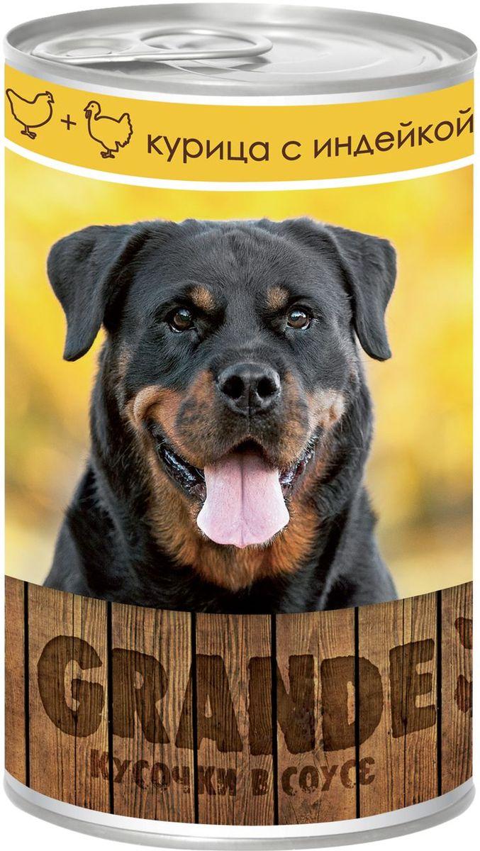 Консервы Vita ProGrande для собак, курица и индейка, 400 г75164276Полнорационный корм для взрослых собак.Аппетитные кусочки в соусе, обеспечивает животное необходимым питанием с учетом суточной потребности. Без консервантов, красителей, усилителей вкуса, ГМО.