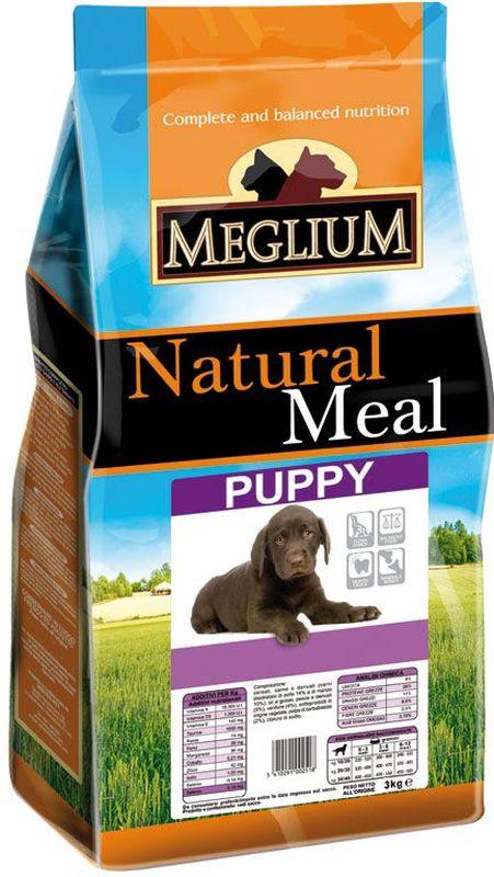 Корм сухой Meglium для щенков, 3 кгMS1703Сбалансированный корм, обеспечивающий здоровый рост и развитие щенка. Содержит высокопитательный животный белок, жизненноважные витамины и минералы. Обогащен Омега-3 жирными кислотами. Для щенков от 2 до 13 месяцев.