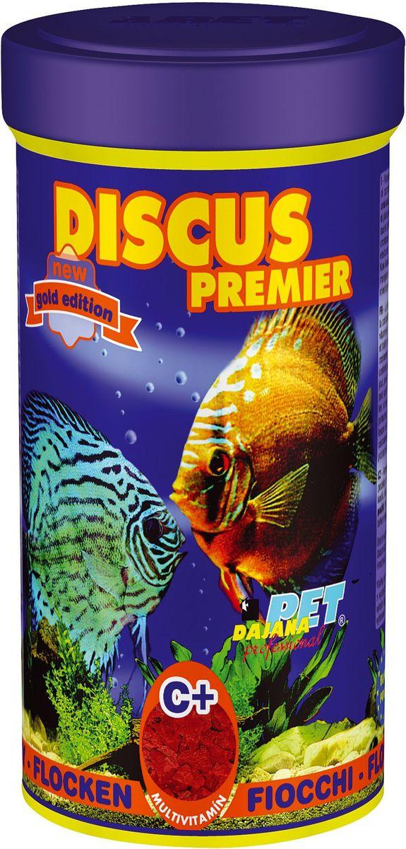 Корм для рыб Dajana Discus Premier Flakes, 250 млDP007BКомплексный хлопьеобразный корм для дискусов. Обогащен мультивитаминами для здоровья и красивой окраске рыб.