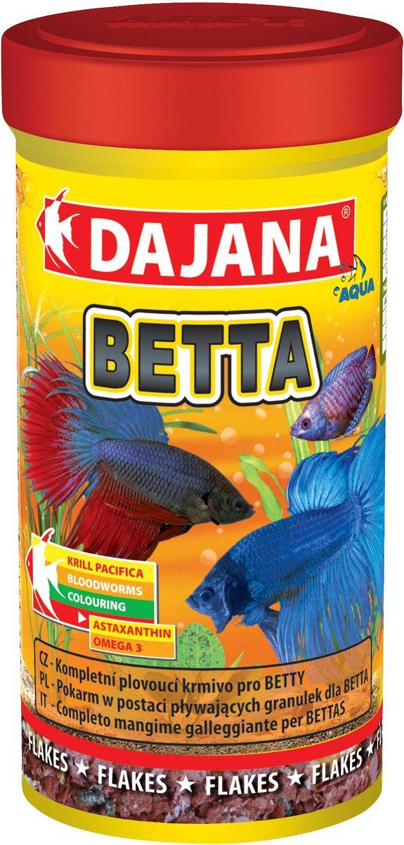Корм для рыб Dajana Betta, 100 млDP014AСпециально разработанный, комплексный корм для рыбок в виде плавающих хлопьев, для петушков и других лабиринтовых рыб (гурами, макроподы).