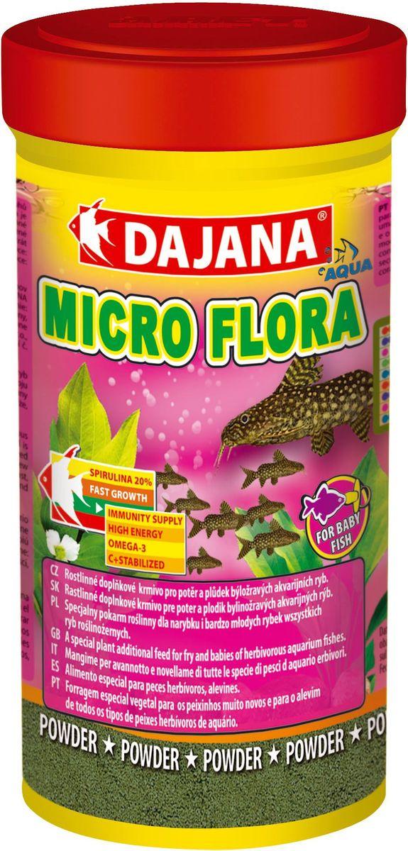 Корм для рыб Dajana Micro Flora, 100 млDP026AMicro Flora - Специальный легкий порошкообразный корм для мальков. Содержит натуральные компоненты с добавлением спирулины максима для травоядных видов рыб.