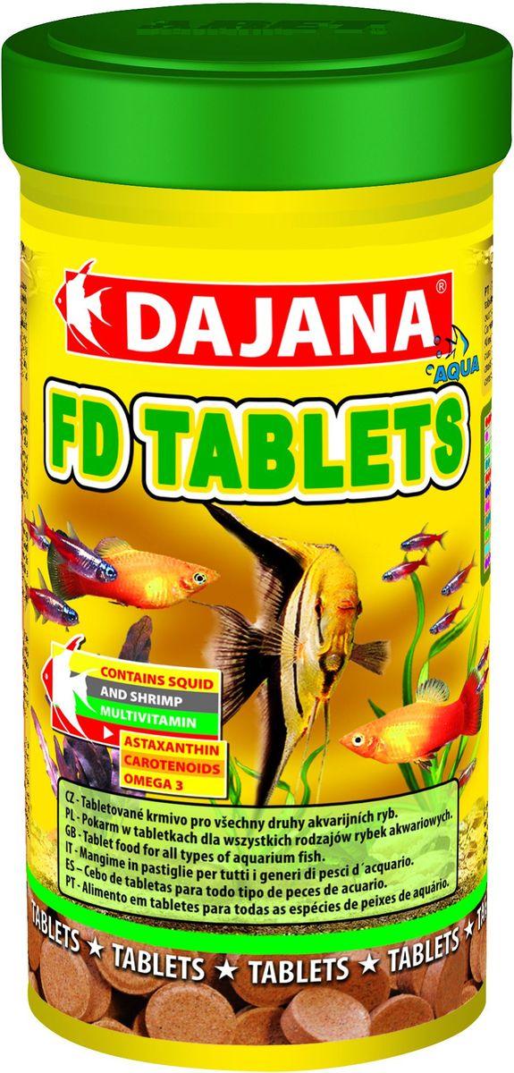 Корм для рыб Dajana Fd Tropical Tablets, 250 млDP050BСпециализированный корм в виде клеящихся таблеток, содержит несколько видов лиофизированного планктона для всех видов тропических рыбок. Корм очень питательный и богат витаминами, что способствует здоровью и правильному развитию рыбок. Корм не мутит воду в аквариуме.