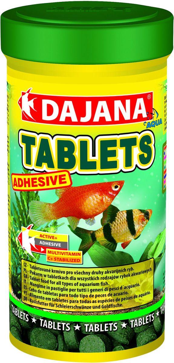 Корм для рыб Dajana Tablets Adhesive, 100 млDP051AСпециализированный корм в виде клеящихся таблеток, содержит несколько видов лиофизированного планктона и водоросли спирулины для всех видов тропических рыбок. Корм очень питательный и богат витаминами, что способствует здоровью и правильному развитию рыбок. Корм не мутит воду в аквариуме.