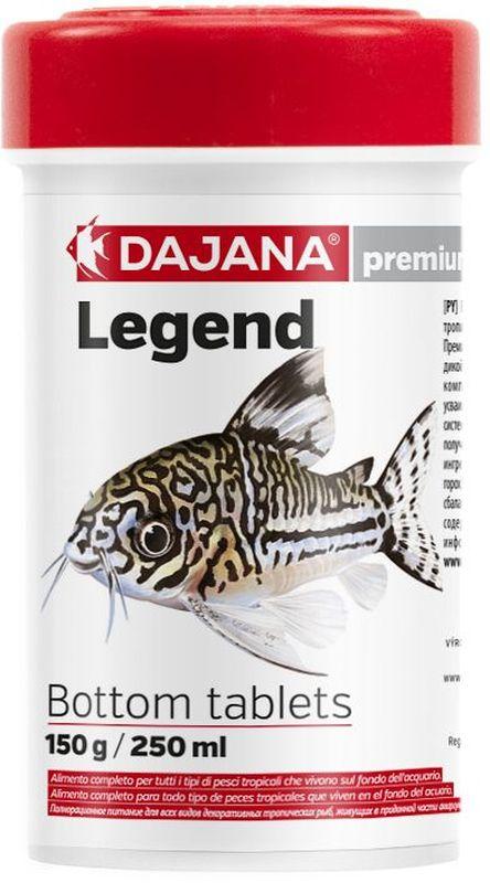 Корм для рыб Dajana Legend Bottom Tablets, 100 млDP054A1Полнорационный корм в таблетках для донных рыб. Корм Legend изготавливается по новой премиум-формуле, имититующей корм рыб в дикой природе, улучшает пищеварение укрепляет иммунную систему, помогает здоровой окраске рыб, снижает биологическую нагрузку в аквариуме.