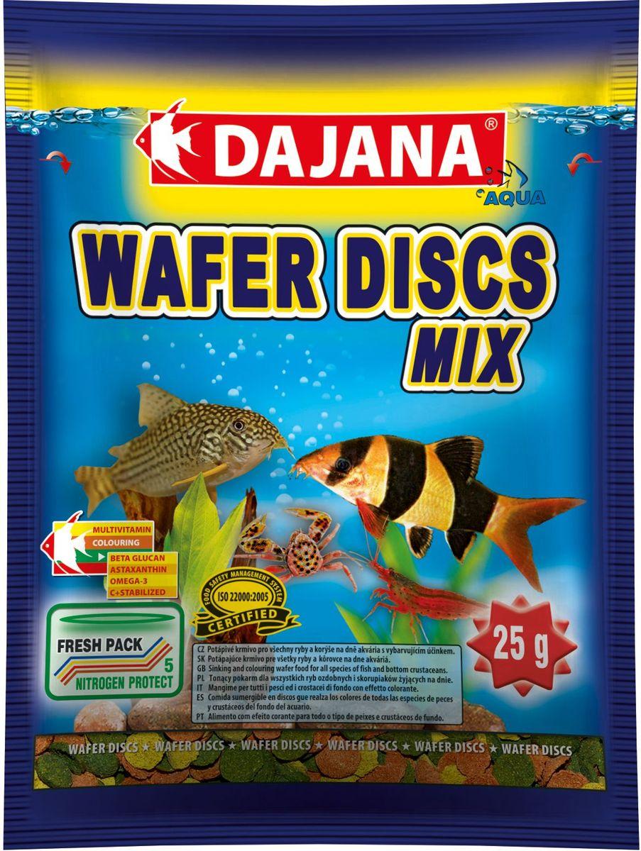 Корм для рыб Dajana Wafers Discs Mix, 80 млDP061SПолнорационный корм в виде цветных тонущих дисков для рыб и донных ракообразных, живущих на дне пресноводных и моских аквариумов.