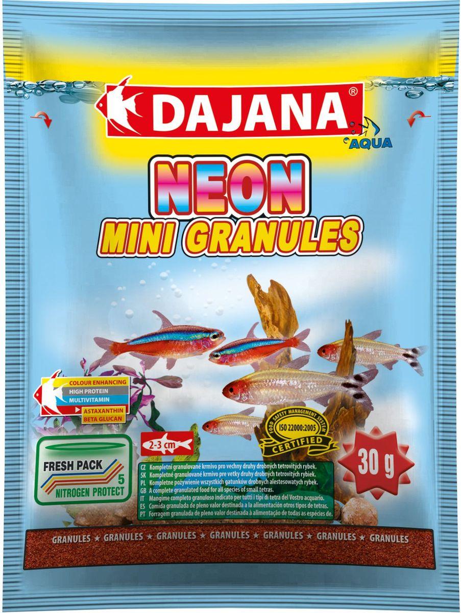 Корм для рыб Dajana Neon Mini Granules, 80 млDP104SПолноценный гранулированный корм премиум-класса, предназначенный для ежедневного кормления неонов и других видов тетр. Корм содержит высокую долю белка, витаминов и минералов для обеспечения роста и здоровья рыб.