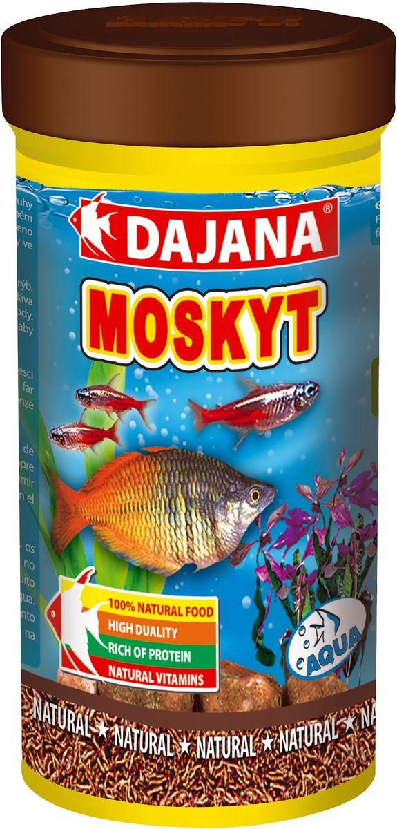 Корм для рыб Dajana Moskyt, 250 млDP203BПриродный натуральный корм из чистых лиофилизированных личинок комара-звонца chronomus. Для аквариумных рыб, водяных пресмыкающихся и террариумных животных.