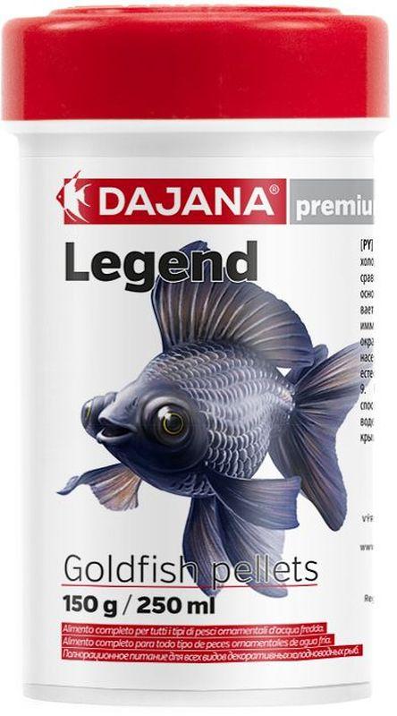Корм для рыб Dajana Legend Goldfish Pellets, 100 млDP118A1Полнорационный корм в виде круглых гранул для золотых рыбок. Корм Legend изготавливается по новой премиум-формуле, ими титующей корм рыб в дикой природе, улучшает пищеварение укрепляет иммунную систему, помогает здоровой окраске рыб, снижает биологическую нагрузку в аквариуме.