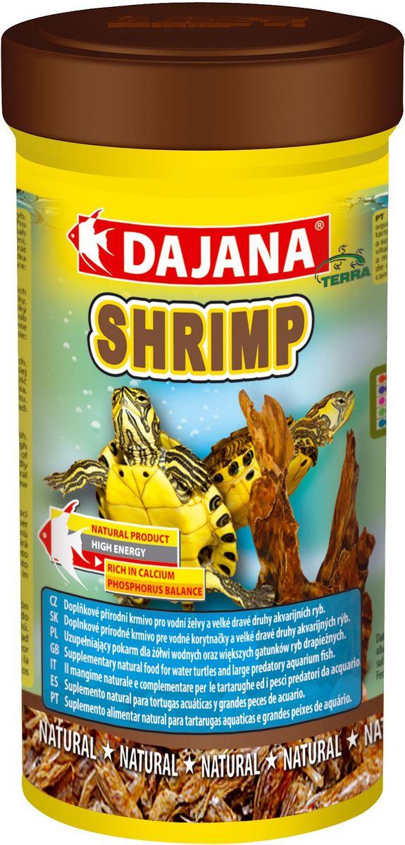 Корм для рептилий Dajana Shrimp, 100 млDP208AПриродный натуральный корм из сушеных креветок с большим содержанием протеинов. Для водных черепах, террариумных животных и морских аквариумов.