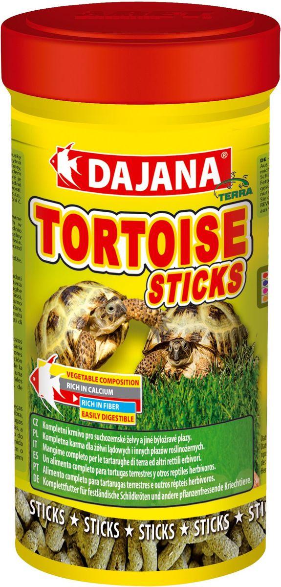 Корм для черепах сухопутных Dajana Tortouse Sticks, 250 мл. DP253BDP253BПолноценный корм в виде палочек, смесь отборных продуктов растительного происхождения, предназначенная для всех видов сухопутных травоядных черепах и других травоядных пресмыкающихся. Смесь в оптимальном соотношении дает животным важные питательные вещества, включая кальций и фосфор, необходимый для правильного развития скелета и организма в целом.