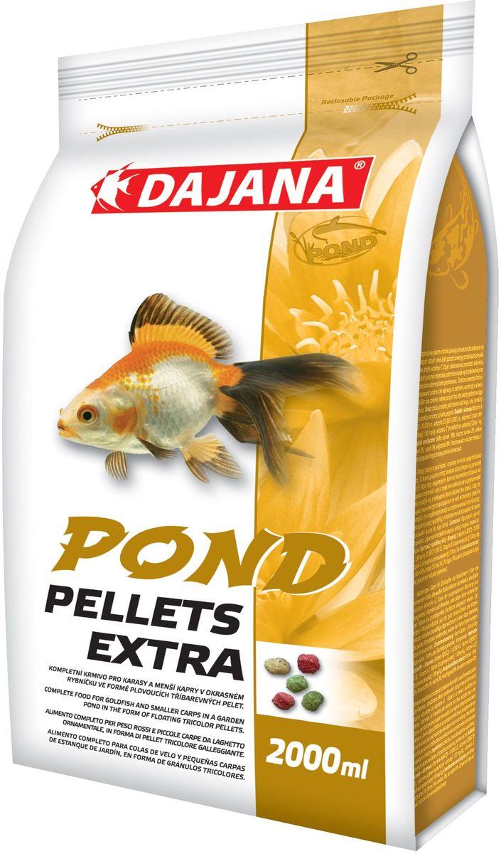 Корм для рыб прудовых Dajana Pond Pellets Extra, 2 л (220 г)DP308SСбалансированный корм для декоративных карпов и золотых рыбок и небольших карпов в садовых (декоративных) прудах - в форме трёхцветных плавающих гранул. Плавающий корм, упрощающий кормление декоративных рыб.
