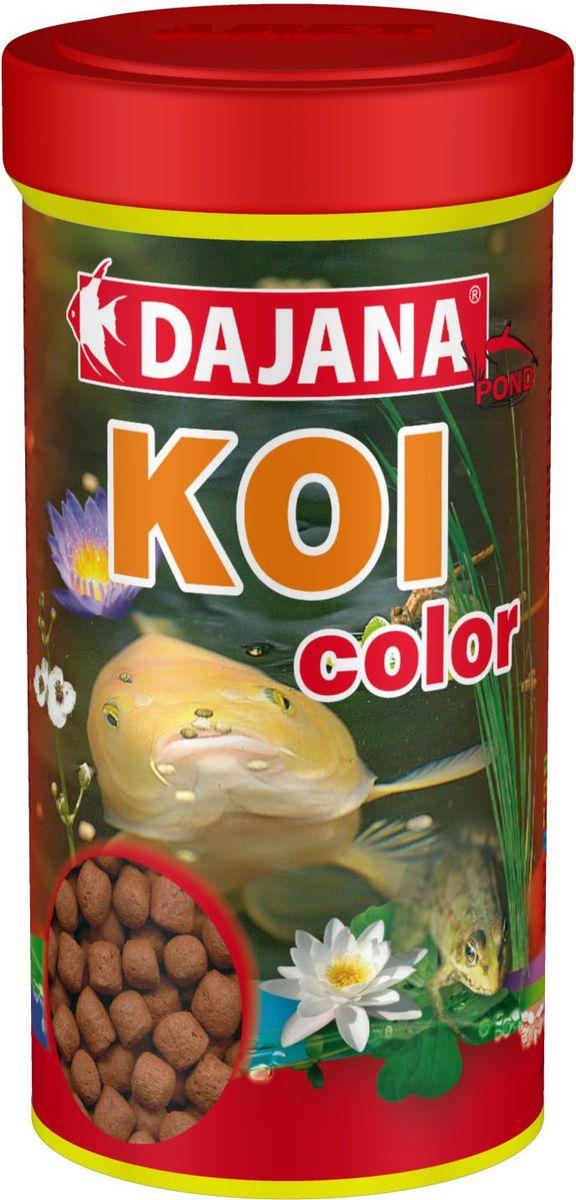 Корм для рыб прудовых Dajana Koi Stick, 1 л (450 г). DP306DDP306DЯвляется высоко протеиновым плавающим кормом для прудовых рыб и крапов KOI. Рекомендуем использовать данный корм в качестве дополнения к основному рациону. Состав корма, для производства которого используются самое качественное сырье, способствует хорошей усвояемости пищи и идеально подходит для организма рыб. Содержит большое количество важных витаминов, микроэлементов и минеральных веществ.
