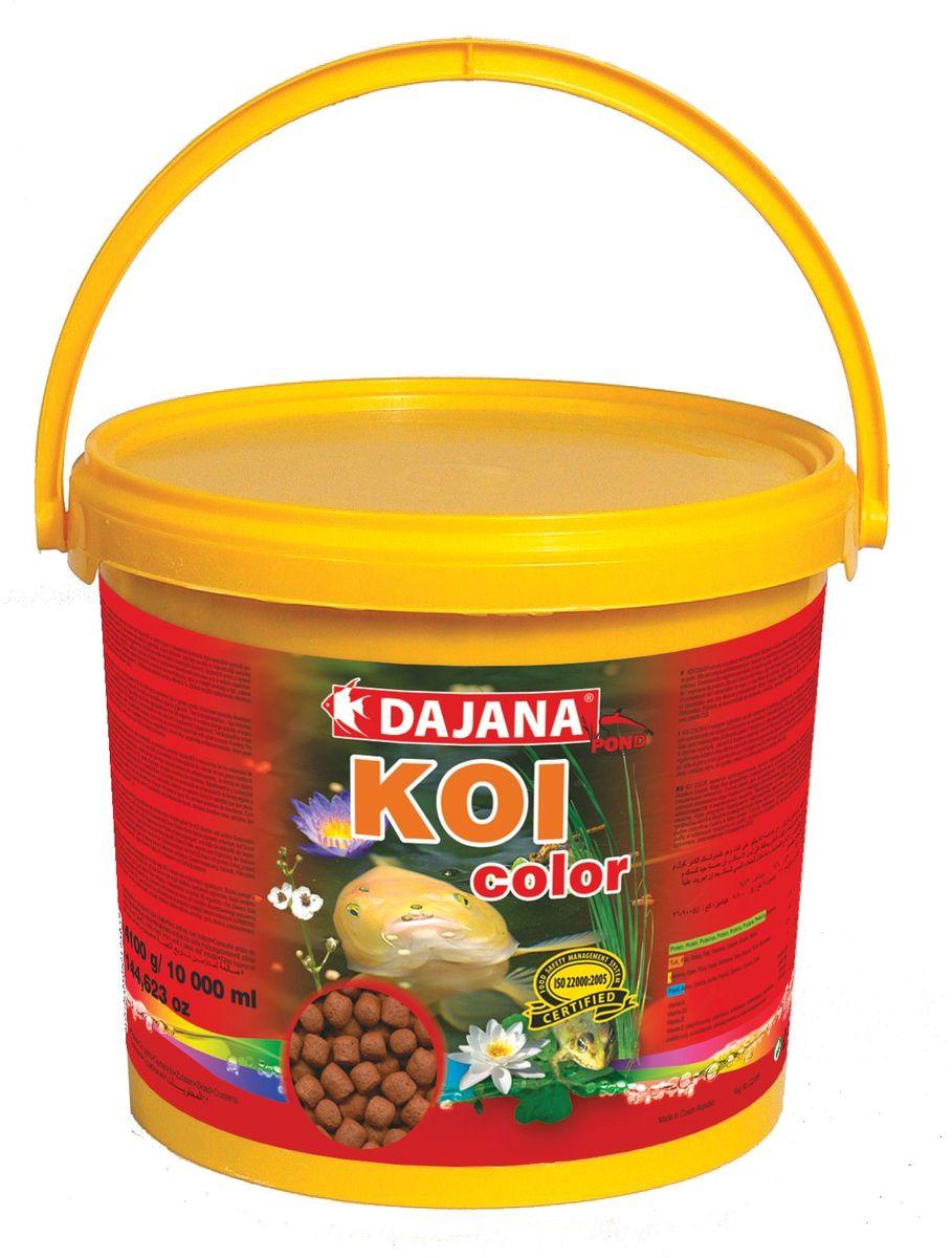 Корм для рыб прудовых Dajana Koi Color, 5 л (2 кг)DP306FЯвляется высоко протеиновым плавающим кормом для прудовых рыб и крапов KOI. Рекомендуем использовать данный корм в качестве дополнения к основному рациону. Состав корма, для производства которого используются самое качественное сырье, способствует хорошей усвояемости пищи и идеально подходит для организма рыб. Содержит большое количество важных витаминов, микроэлементов и минеральных веществ.