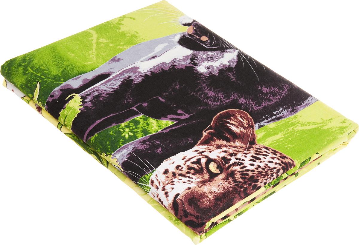 Комплект белья МарТекс Пантера, 1,5-спальный, наволочки 70х70, цвет: зеленый01-1003-1Комплект постельного белья МарТекс состоит из пододеяльника, простыни и двух наволочек и изготовлен из бязи. Постельное белье оформлено оригинальным ярким рисунком и имеет изысканный внешний вид. Бязь - вид ткани, произведенный из натурального хлопка. Бязевое белье выдерживает большое количество стирок. Благодаря натуральному хлопку, постельное белье приобретает способность пропускать воздух, давая возможность телу дышать. Приобретая комплект постельного белья МарТекс, вы можете быть уверенны в том, что покупка доставит вам и вашим близким удовольствие и подарит максимальный комфорт.