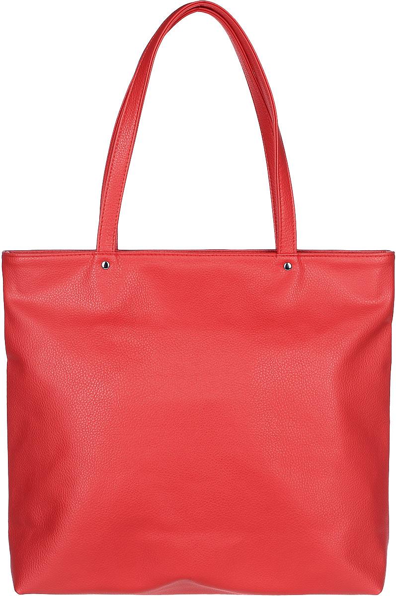 Сумка женская Медведково, цвет: красный. 17с0325-к1417с0325-к14Крайне вместительная женская сумка от бренда Медведково будет незаменима при походах по магазинам. Исполненная из экокожи, сумка оснащена просторным отделением на застежке-молнии. Внутри отделения находится один прорезной карман для мелочей так же на застежке-молнии. Для удобной переноски сумка снабжена двумя широкими ручками с упрочненным креплением. Благодаря отсутствию разделителя в отделении и нежесткой конструкции в сумку могут поместиться вещи различных габаритов, что крайне удобно.