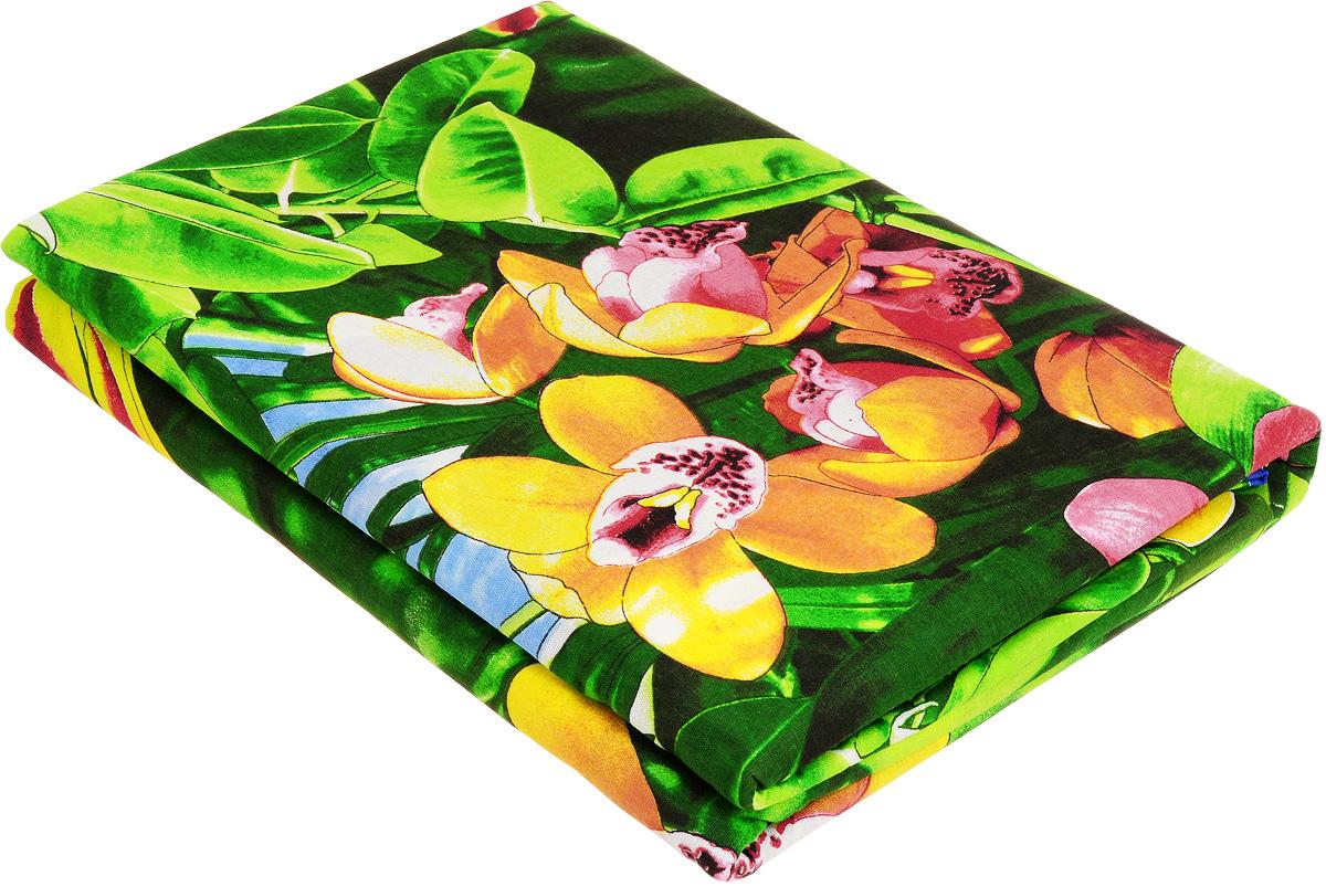 Комплект белья МарТекс Райский уголок, 2-спальный, наволочки 70х70, цвет: зеленый, красный, желтый01-0980-2Комплект МарТекс Райский уголок состоит из пододеяльника, простыни и двух наволочек. Постельное белье, выполненное из бязи (100% хлопка), оформлено ярким рисунком с эффектом 3D и имеет изысканный внешний вид. Бязь - хлопчатобумажная ткань полотняного переплетения без искусственных добавок. Большое количество нитей делает эту ткань более плотной, более долговечной. Высокая плотность ткани позволяет сохранить форму изделия, его первоначальные размеры и первозданный рисунок. Приобретая комплект постельного белья МарТекс Райский уголок, вы можете быть уверенны в том, что покупка доставит вам и вашим близким удовольствие и подарит максимальный комфорт.