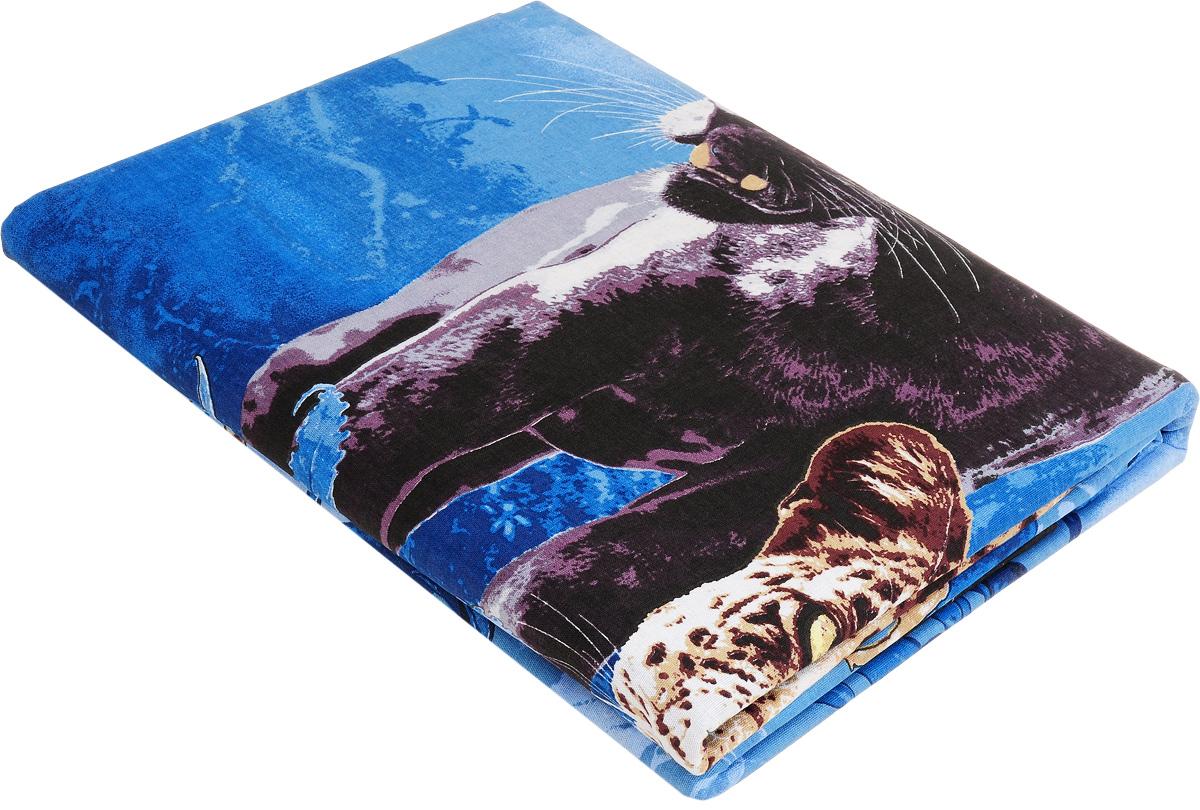 Комплект белья МарТекс Пантера, 1,5-спальный, наволочки 50х70. 01-0956-101-0956-1
