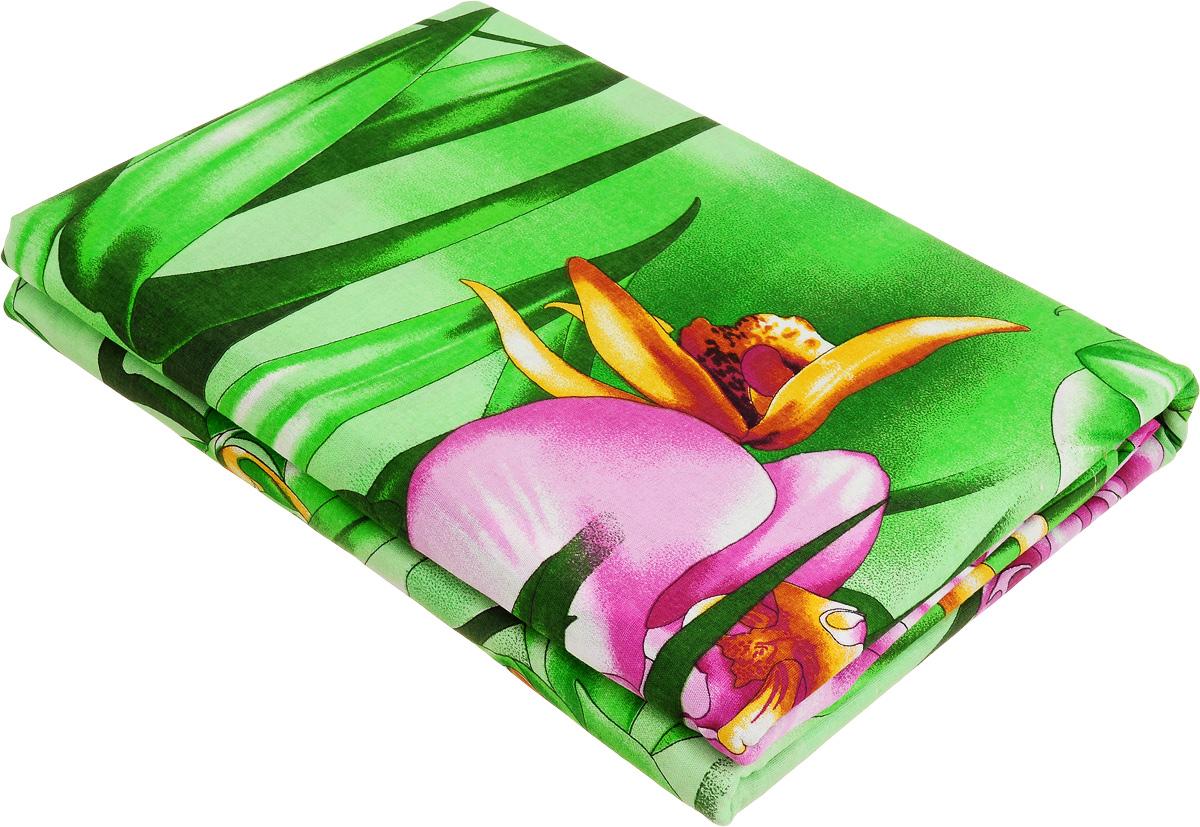 Комплект белья МарТекс Орхидеи в саду, 2-спальный, наволочки 70х70. 01-0993-201-0993-2
