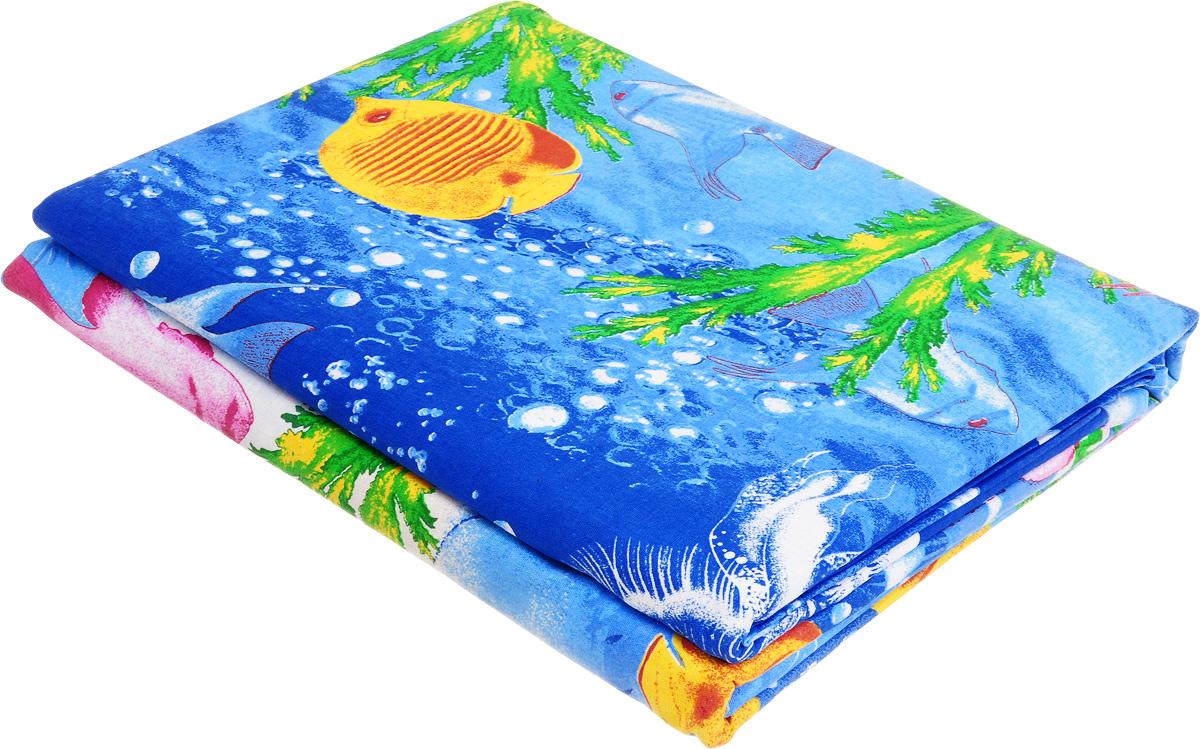 Комплект белья МарТекс Карибское море, семейный, наволочки 50х70, 70х70, цвет: синий01-0997-4Комплект постельного белья МарТекс Карибское море состоит из пододеяльника, простыни и четырех наволочек и изготовлен из бязи. Постельное белье оформлено оригинальным ярким рисунком и имеет изысканный внешний вид. Бязь - вид ткани, произведенный из натурального хлопка. Бязевое белье выдерживает большое количество стирок. Благодаря натуральному хлопку, постельное белье приобретает способность пропускать воздух, давая возможность телу дышать. Приобретая комплект постельного белья МарТекс, вы можете быть уверенны в том, что покупка доставит вам и вашим близким удовольствие и подарит максимальный комфорт.