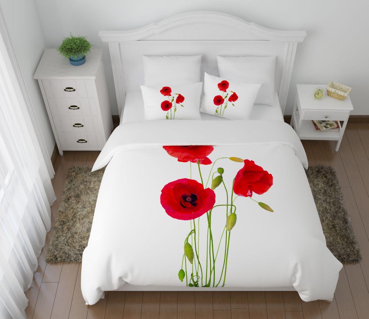Комплект белья Сирень Выразительные маки, 1,5-спальный, наволочки 50x7008488-КПБ-МКомплект постельного белья Сирень выполнен из прочной и мягкой ткани. Четкий и стильный рисунок в сочетании с насыщенными красками делают комплект постельного белья неповторимой изюминкой любого интерьера. Постельное белье идеально подойдет для подарка. Идеальное соотношение смешенной ткани и гипоаллергенных красок это гарантия здорового, спокойного сна. Ткань хорошо впитывает влагу, надолго сохраняет яркость красок. Цвет простыни, пододеяльника, наволочки в комплектации может немного отличаться от представленного на фото. В комплект входят: простынь - 150х220см; пододельяник 145х210 см; наволочка - 50х70х2шт. Постельное белье легко стирать при 30-40 градусах, гладить при 150 градусах, не отбеливать.Рекомендуется перед первым изпользованием постирать.