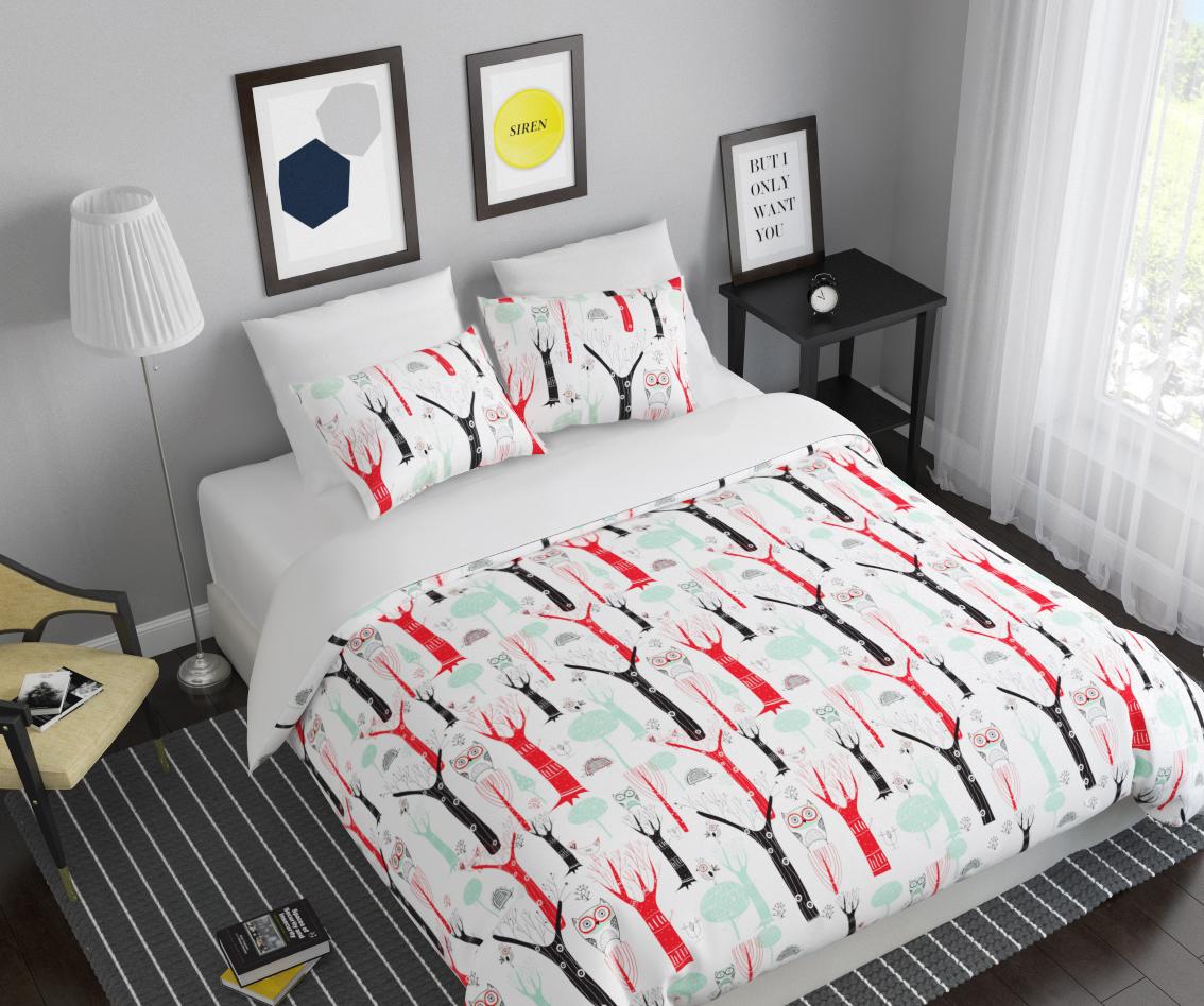 Комплект белья Сирень Заколдованный лес, 1,5-спальный, наволочки 50x7007278-КПБ-МКомплект постельного белья Сирень выполнен из прочной и мягкой ткани. Четкий и стильный рисунок в сочетании с насыщенными красками делают комплект постельного белья неповторимой изюминкой любого интерьера. Постельное белье идеально подойдет для подарка. Идеальное соотношение смешенной ткани и гипоаллергенных красок это гарантия здорового, спокойного сна. Ткань хорошо впитывает влагу, надолго сохраняет яркость красок. Цвет простыни, пододеяльника, наволочки в комплектации может немного отличаться от представленного на фото. В комплект входят: простынь - 150х220см; пододельяник 145х210 см; наволочка - 50х70х2шт. Постельное белье легко стирать при 30-40 градусах, гладить при 150 градусах, не отбеливать.Рекомендуется перед первым изпользованием постирать.