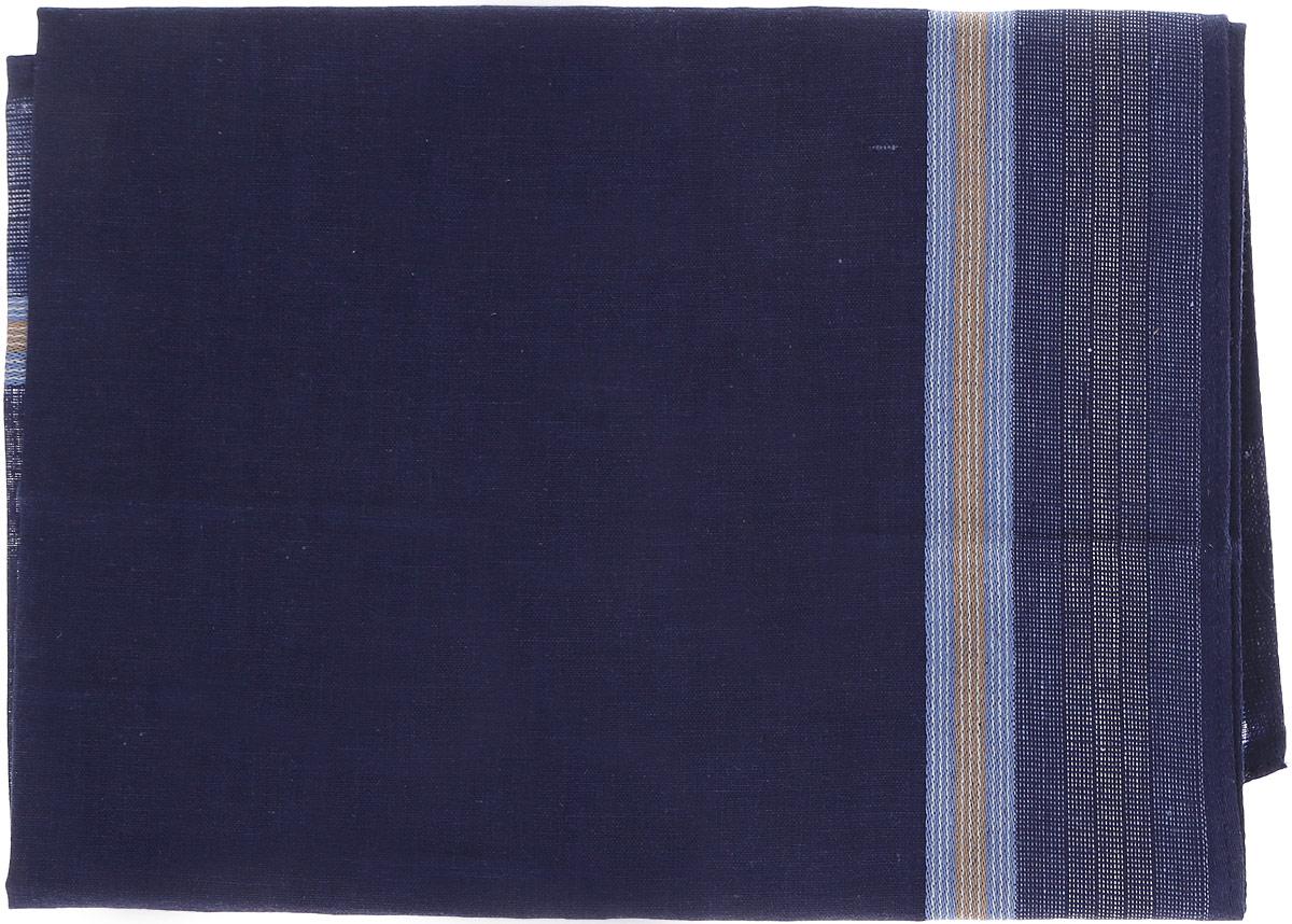 Платок носовой мужской Zlata Korunka, цвет: темно-синий. 45480. Размер 40 см х 40 см45480_синийМужской носовой платок Zlata Korunka, изготовленный из хлопка с добавлением полиэстера, приятен в использовании и хорошо стирается. Материал не садится и отлично впитывает влагу. Модель оформлена по краям контрастными полосками.